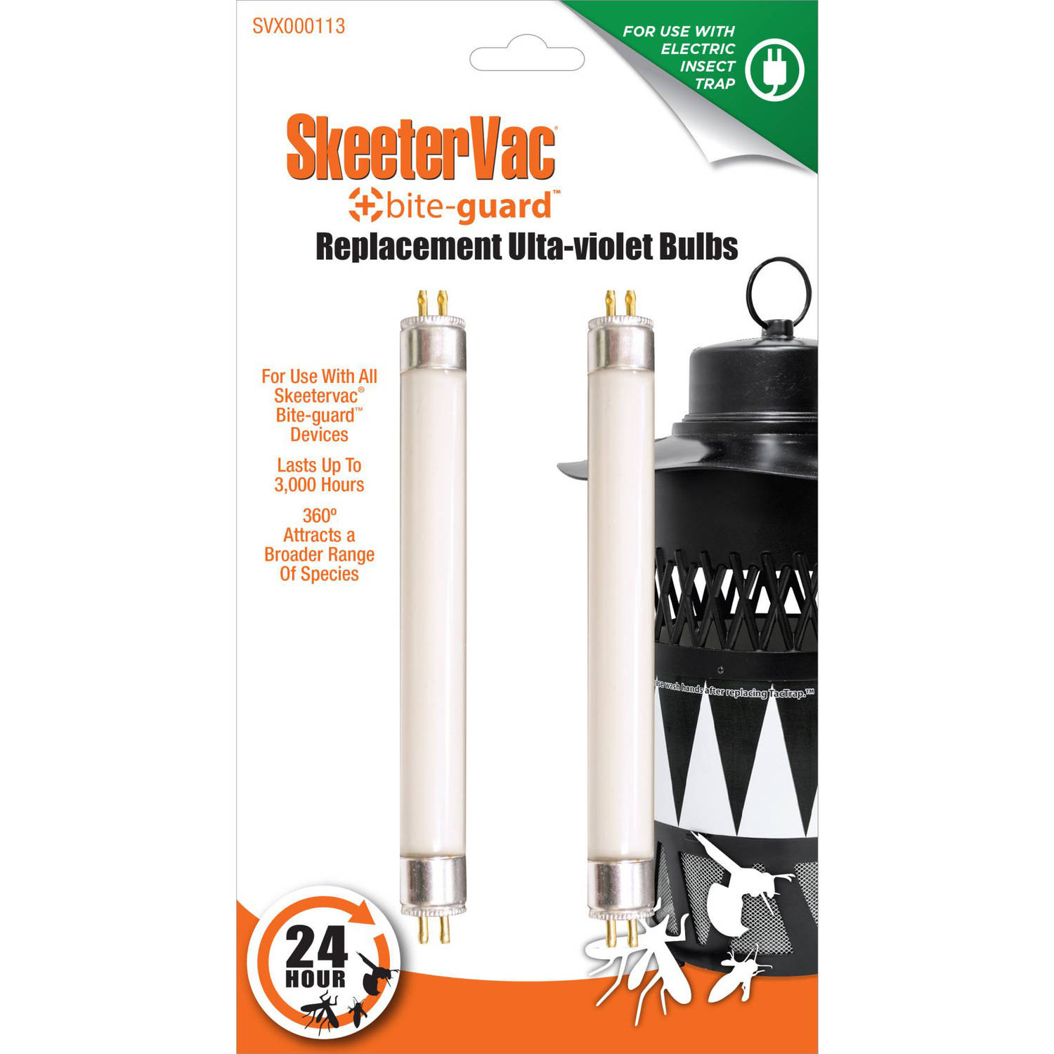 Blue Rhino SkeeterVac Bite-Guard Ultraviolet Bulbs, 2-Pack