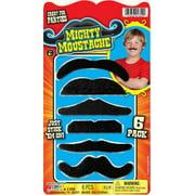 "Fake Mustache 6Pk Toy#4-10, PartNo 1359, by Ja-Ru Inc., Toys, Rack Toys Ass'T 9"""
