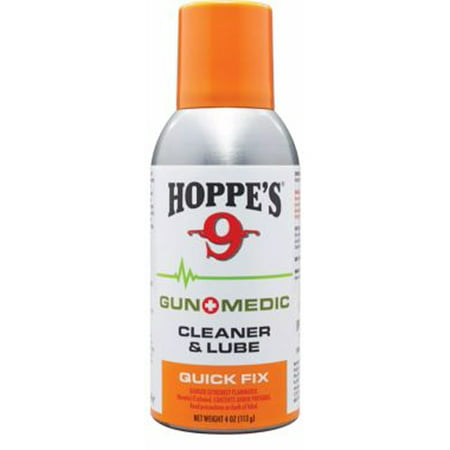 Hoppes 9 Gun Medic Quick Fix Cleaner & Lube 4 oz. (Best Gun Lube And Cleaner For Ar 15)