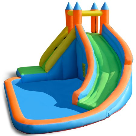 Costway Inflatable Water Slide Mighty Bounce House Jumper Castle Moonwalk Without