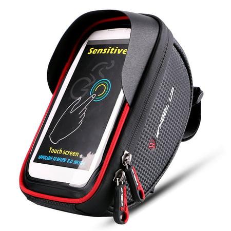 Bike Carrying Case - Bike Front Bag Bicycle Cycling Phone Holder Bike Touchscreen Phone Case MTB Bike Storage Bag Handlebar Phone Pack