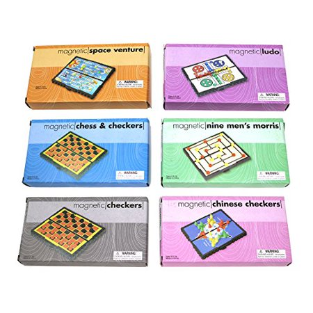 Mini Magnetic Board Games - Set Of 12 Individually Packaged Travel Games - Checkers Chess Solitaire Tic Tac Toe And Much More - image 3 de 4