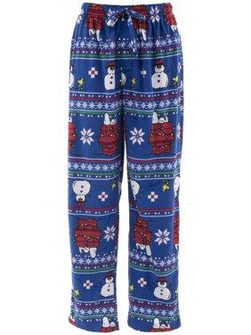 3301dcf6c4 Product Image Peanuts Men's Snoopy Christmas Blue Sueded Fleece Pajama Pants