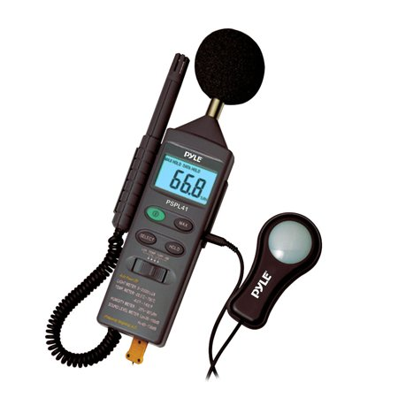 PyleHome - PSPL41 - 4 in 1 Multifunction Environment Meter with Sound Level Meter, Light Meter, Humidity, and Temperature