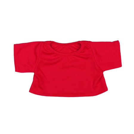 Red T-Shirt Outfit Teddy Bear Clothes Fits Most 14
