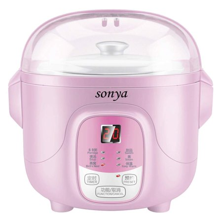Bonus Pack Sonya Ceramic Pot Smart Electric Slow Stew Pot SY-DGD8P (Pink)