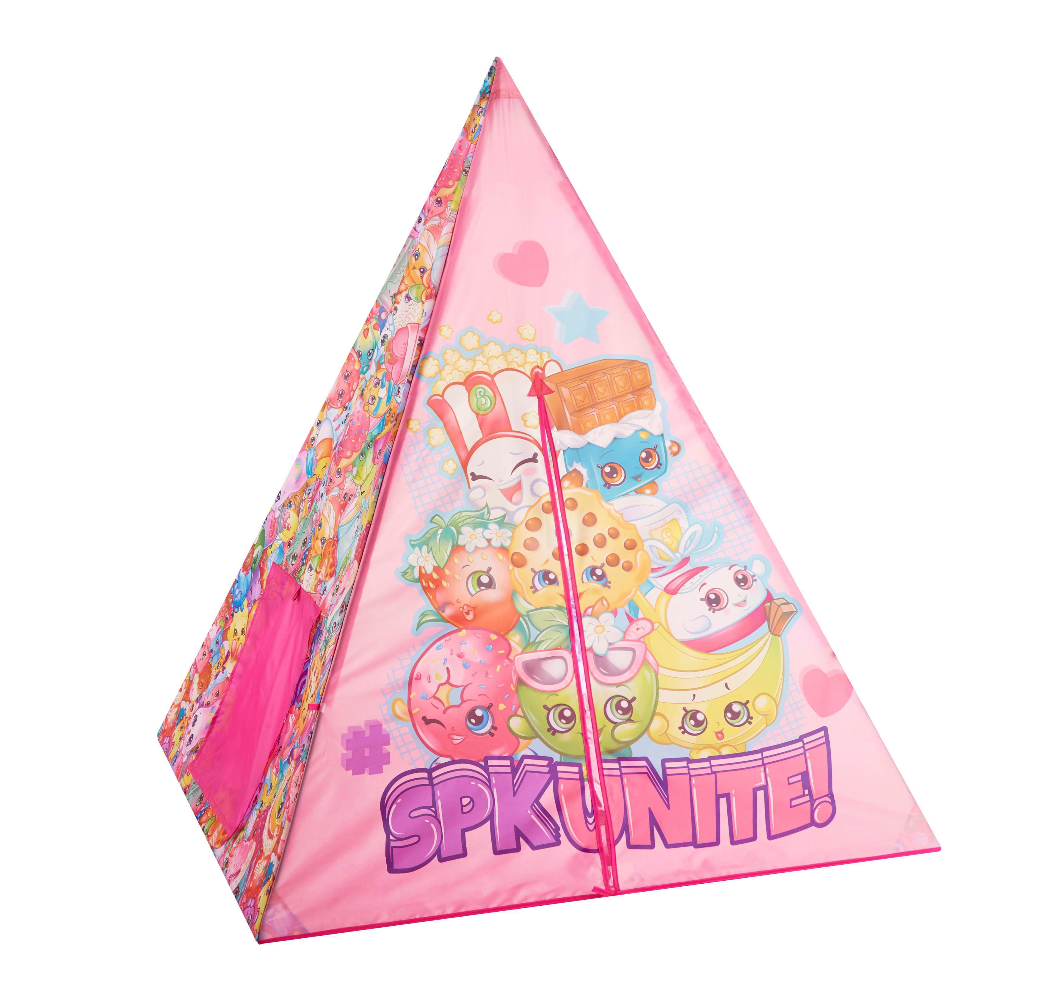 on sale 524f1 b6478 Shopkins Girls Teepee Tent Set, 4 Piece
