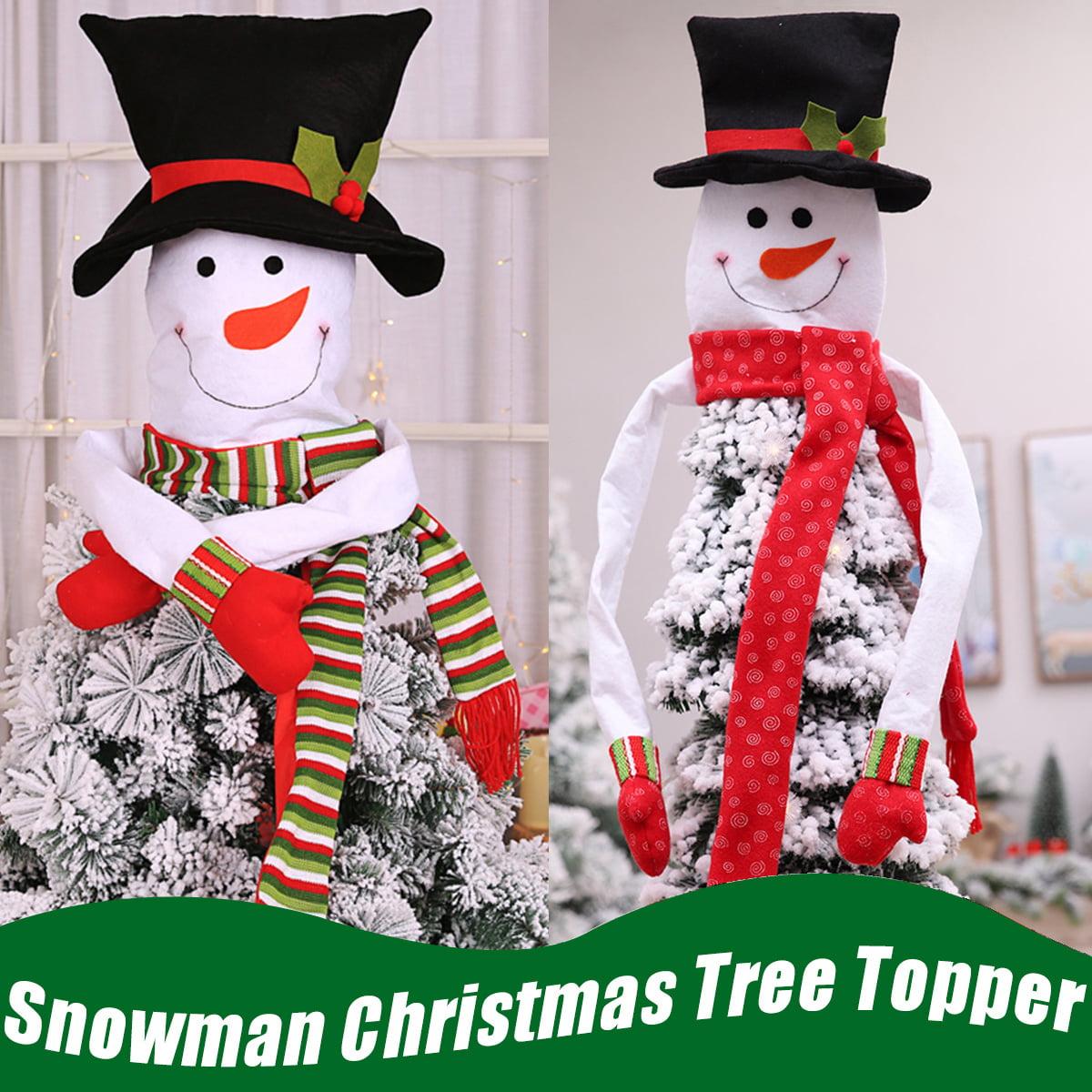 Christmas Decoration Snowman Hug Tree Non-woven Fabric Christmas Tree Skirts