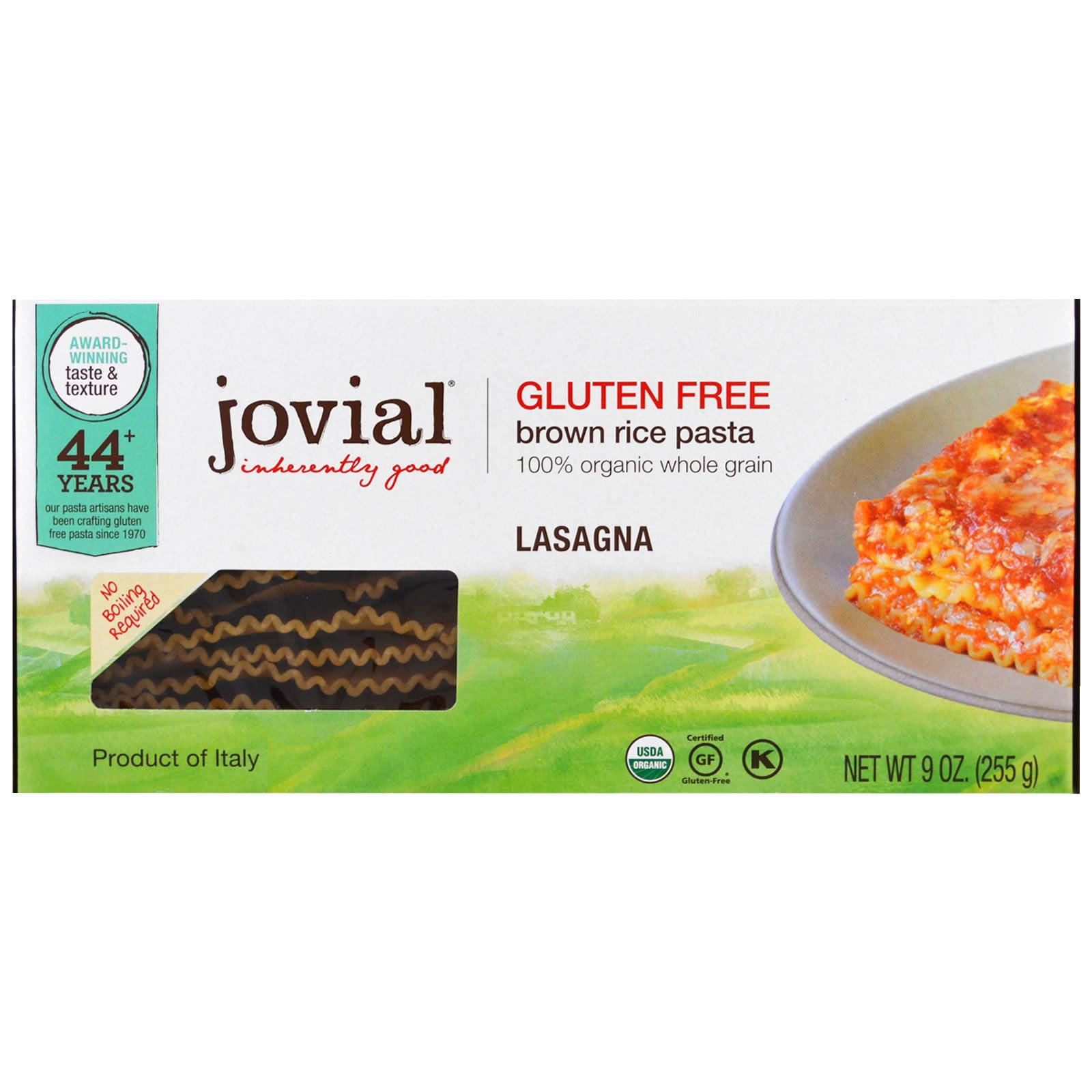 Jovial, Organic Brown Rice Pasta, Lasagna, 9 oz (pack of 12)
