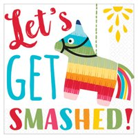 Fiesta 'Let's Get Smashed' Small Napkins (16ct)