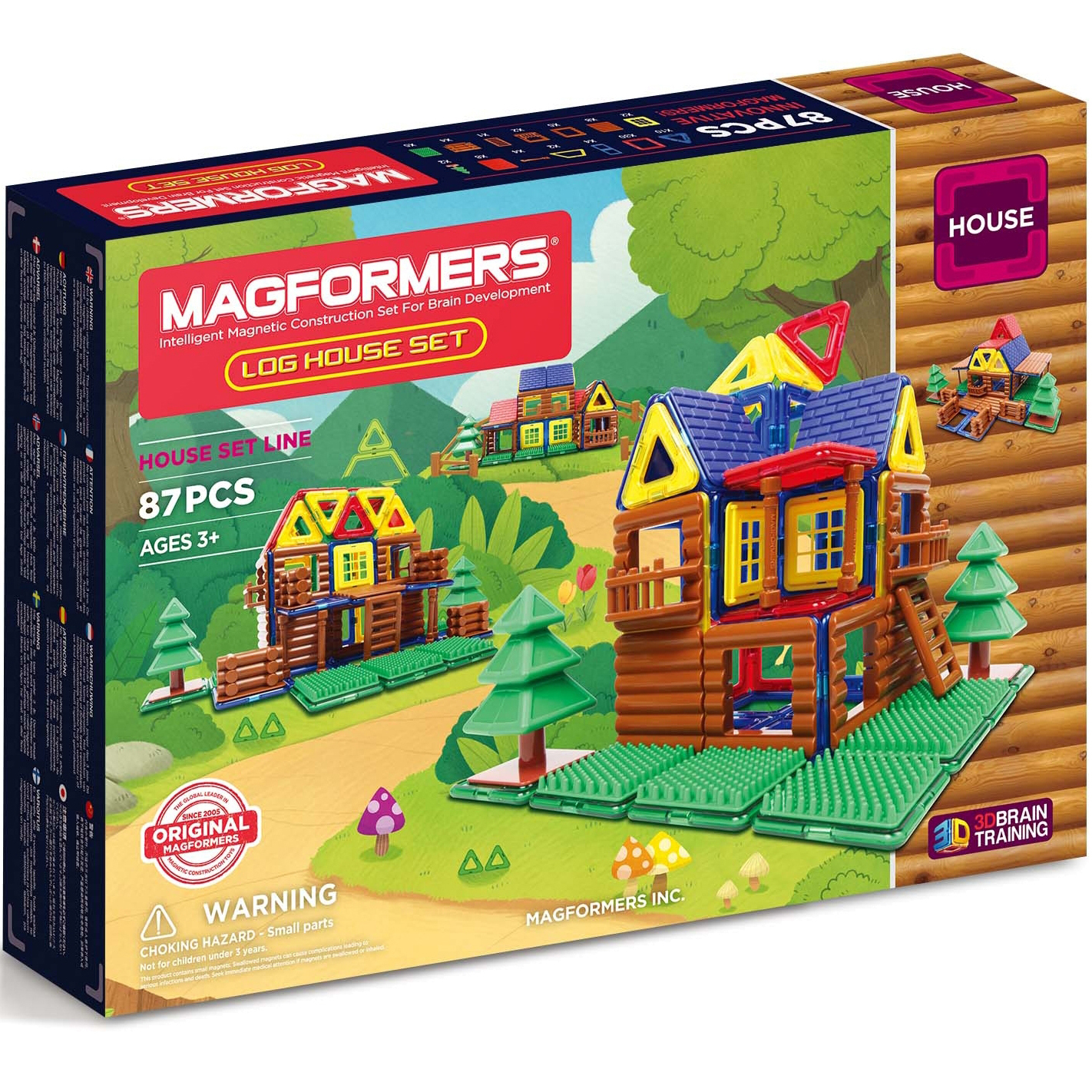 Magformers Log House Set, 87pc
