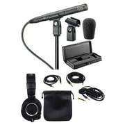 Audio Technica AT4051B Condenser Microphone w/Shockmount + Mic Case + Headphones