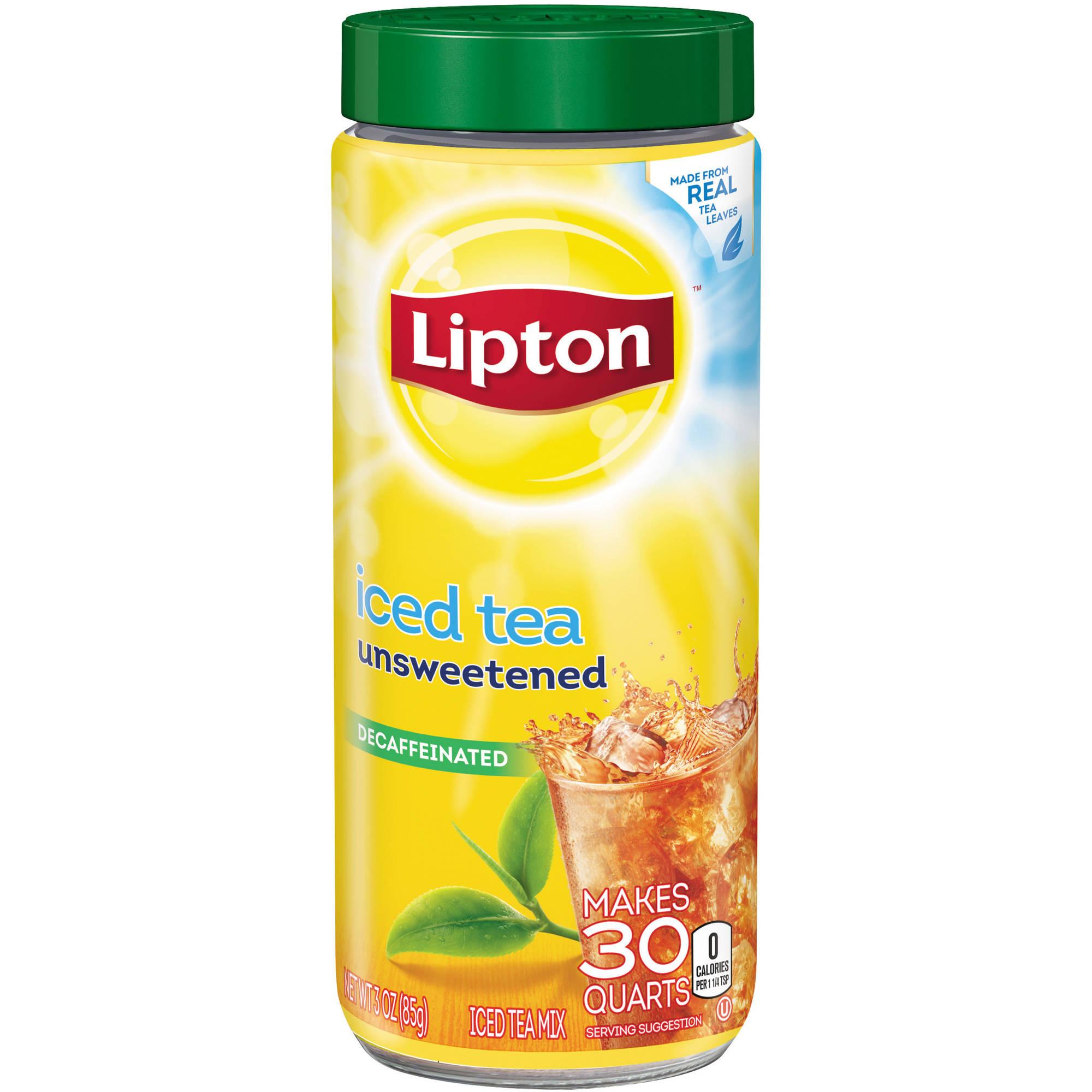 Lipton Decaffeinated Unsweetened Iced Tea Mix, 30 qt