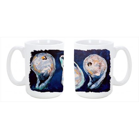 Oysters Give Me More Dishwasher Safe Microwavable Ceramic Coffee Mug 15 oz. - image 1 of 1