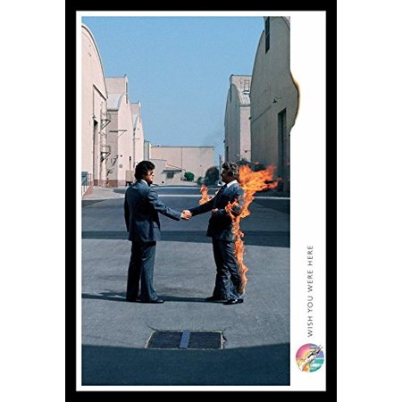 Buyartforless Framed Pink Floyd Wish You Were Here 36X24 Music Art Print Poster  British Progressive Rock Band Pink Floyd 9Th Album