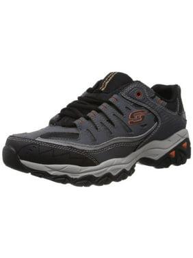 Skechers Sport Men's Afterburn Memory Foam Lace-Up Sneaker,Charcoal,8 M US