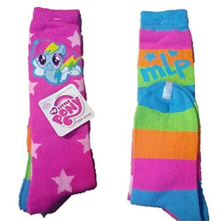 My Little Pony Girls 2 Pack Knee High Socks  7 9