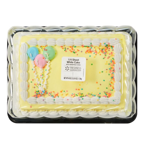Fine Freshness Guaranteed White Cake With Whipped Icing 1 4 Sheet 40 Funny Birthday Cards Online Alyptdamsfinfo