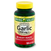Spring Valley Odor-Controlled Garlic Dietary Supplement, 1,000 mg, 120 count