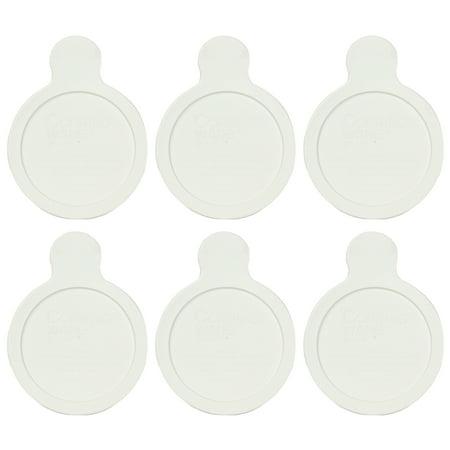 White Smooth Lid - Corningware Visions Grab It P-150-CPC 15oz White Plastic Lid (6-Pack)