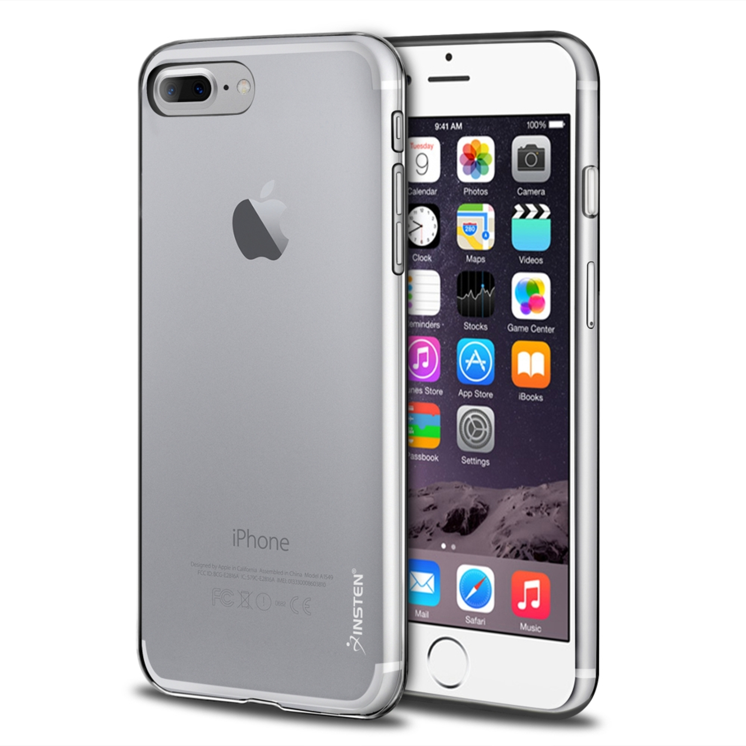 iPhone 8 Plus case, iPhone 7 Plus case, by Insten Transparent TPU Gel Rubber Slim Case For Apple iPhone 8 Plus / iPhone 7 Plus - Clear