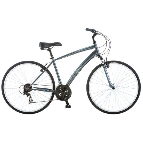 Schwinn S4024D Mens Network 1 Hybrid 700C Bike, Grey