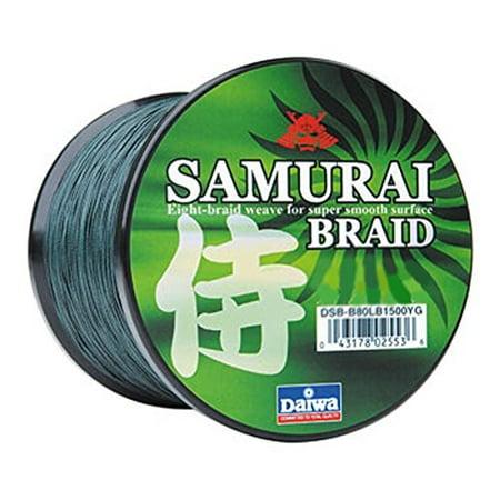 Daiwa Samurai DSB-B80LBG Braided Line-Green 80lb 1500yrd