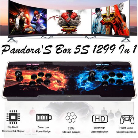 Pandora Box 5S 1299 in 1 NK  Arcade Game Retro Double Stick Video Console US Plug