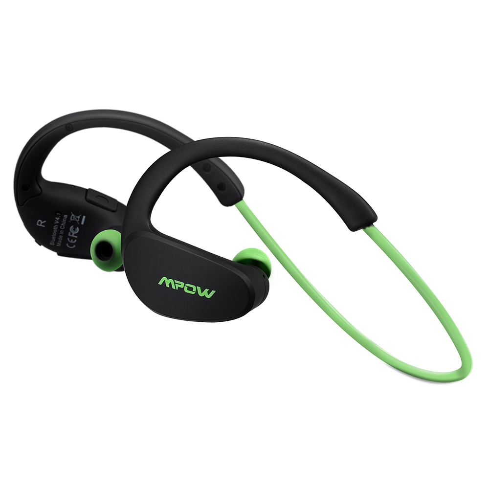 Mpow Cheetah Bluetooth 4.1 Wireless Headphones Stereo Sport Running Gym Exercise Headsets Earphones Hands-free Calling Car Earbuds-Green