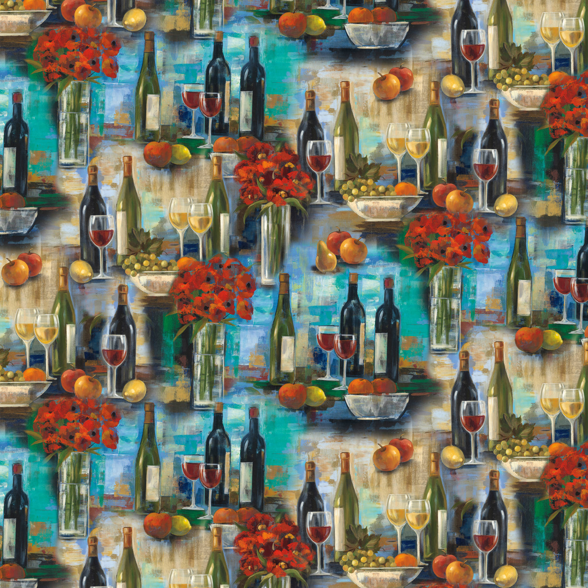"""Afternoon Delight Quilting Cotton Fabric By The Yard, 44"""""" WA-3570-4C-1"