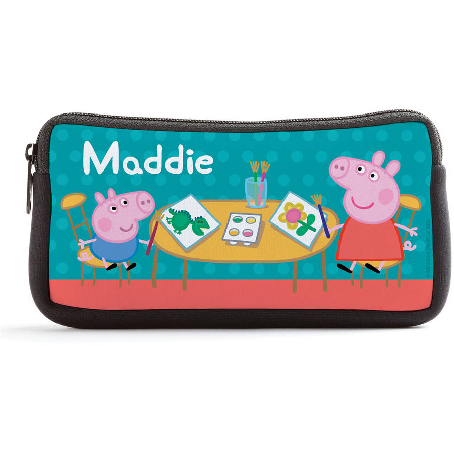 Personalized Peppa Pig Coloring Fun Kids Pencil Case