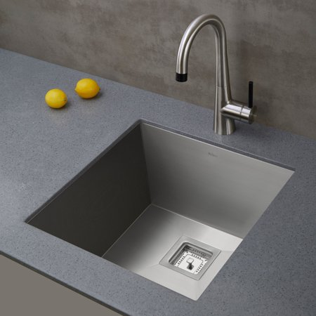 KRAUS Pax™ Zero-Radius 18 ½-inch 18 Gauge Undermount Single Bowl Stainless Steel Kitchen Sink