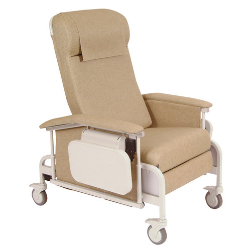 Winco Manufacturing Drop Arm Care Recliner with Nylon Casters