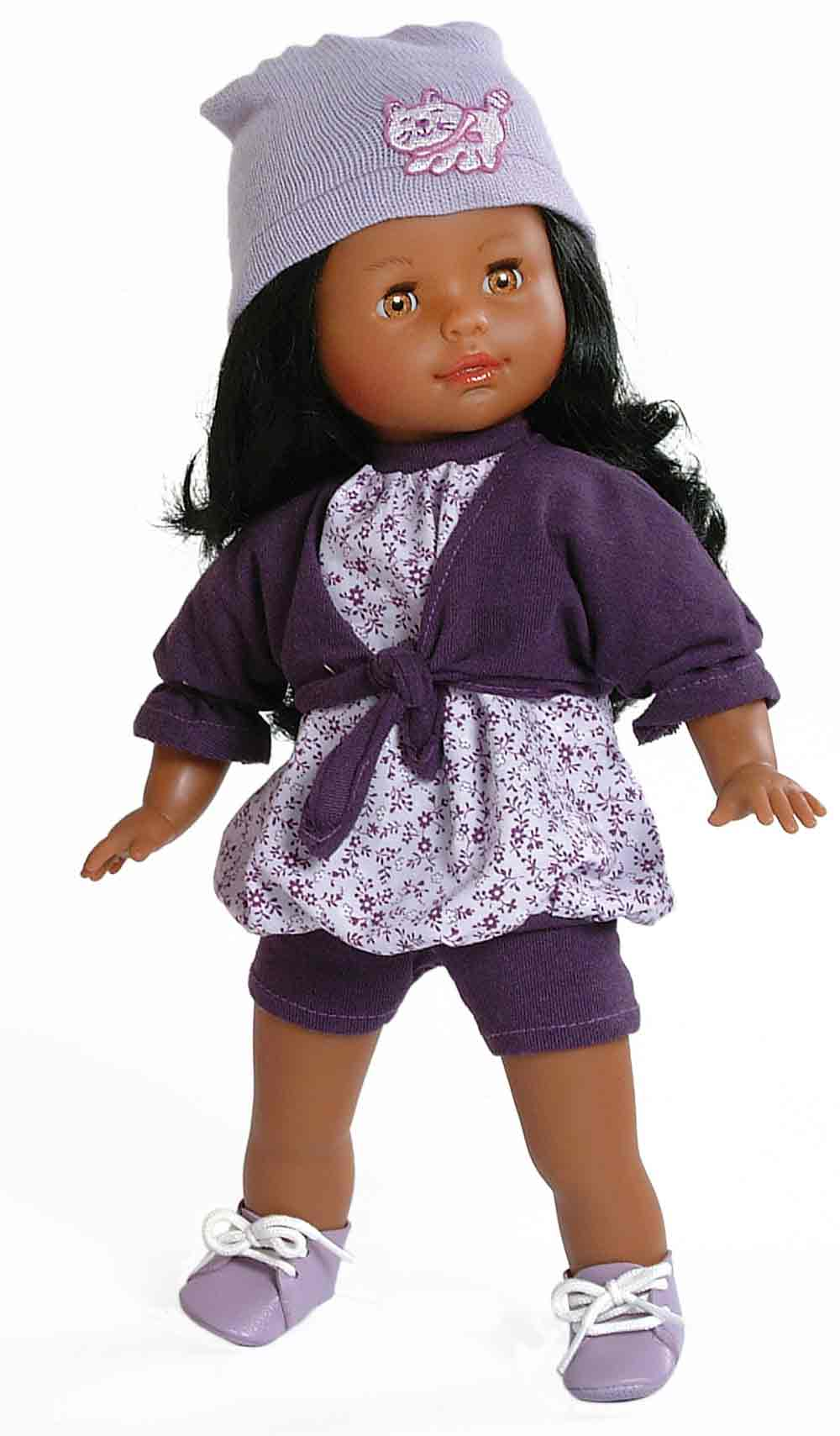 "Paola Reina Los Blanditas Esther 14"" African American Fashion Doll (Made in Spain) by Sunny Spain Imports"