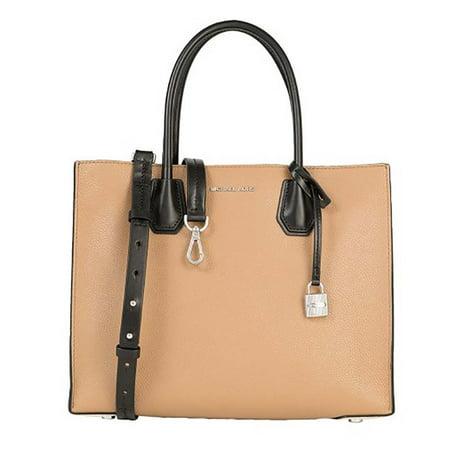 445e8a728967 Michael Kors - Michael Kors Women's Mercer Large Leather Tote Bag Cashew  Ecru Black OS - Walmart.com