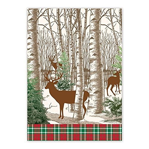 TOW294 Cotton Kitchen Dish Towel, Winter Woods, Durable Woven Cotton Kitchen  Towel By Michel