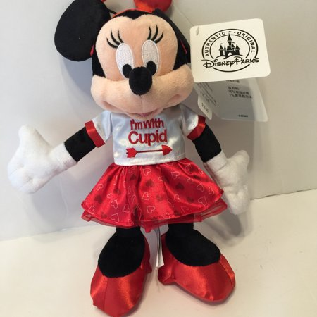 Disney Parks Minnie Mouse Im With Cupid Valentines Day Plush New With Tags