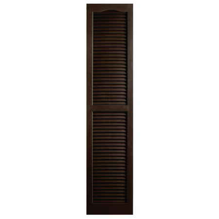 """Image of Alpha Shutters Exterior 14"""" x 59"""" Louvered Shutter (Set of 2)"""