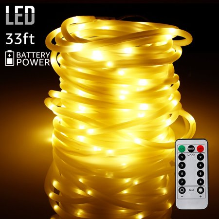 - TORCHSTAR 33ft 100 LEDs Outdoor LED String Lights, Warm White