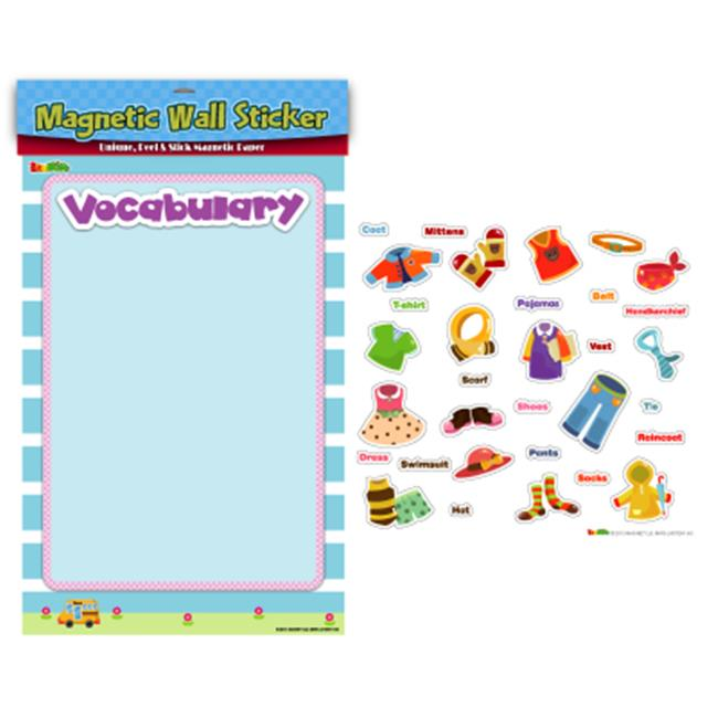 American Educational Products MAG-107 Clothes Vocabulary Magnetic Wall Sticker