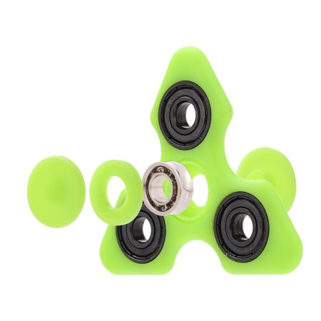 Tri Fidget Hand Finger Spinner Spin Widget Focus Toy EDC Pocket Desktoy Triangle Gift for ADHD Children Adults Luminous Glowing In The Dark Relieve Stress (Triangle Gift)