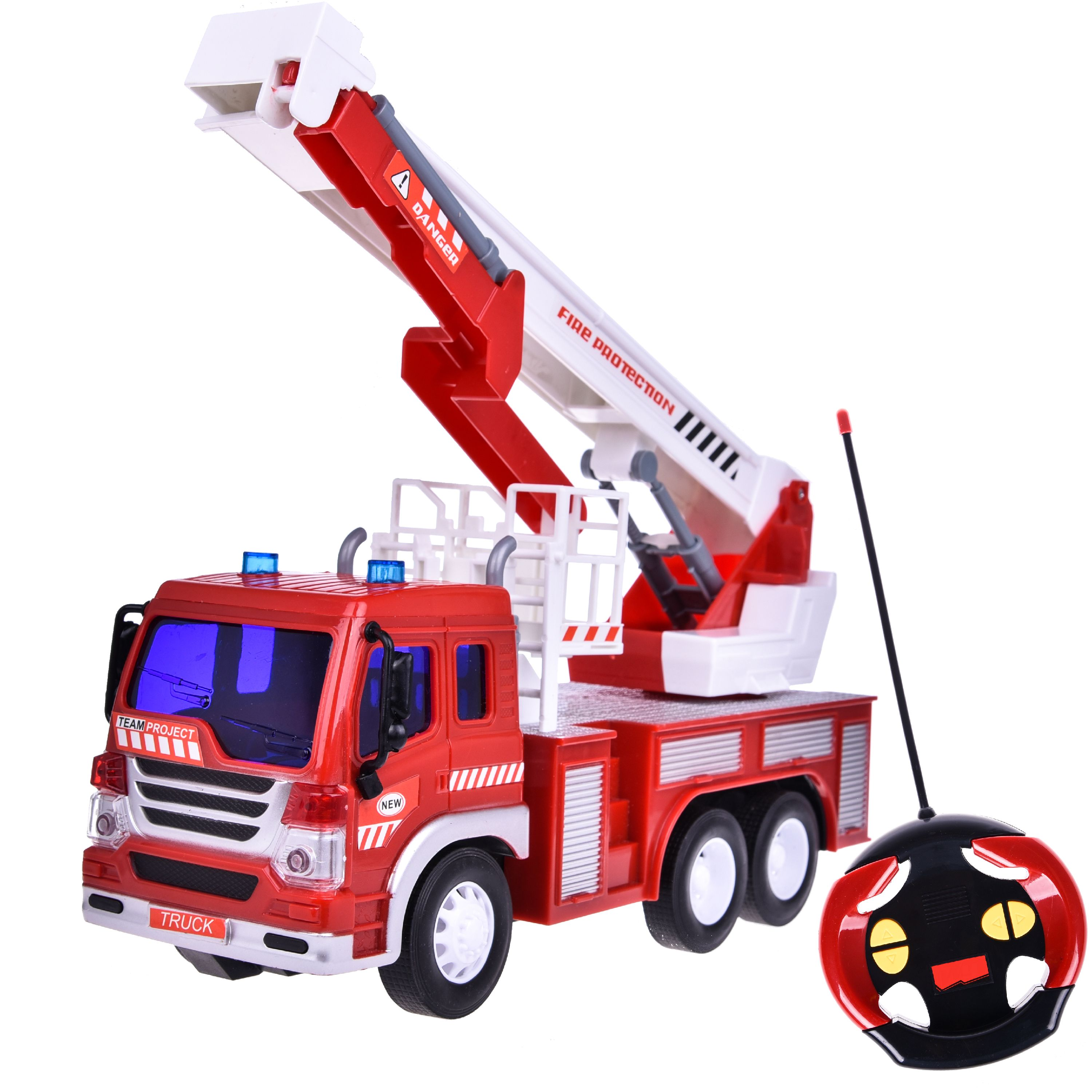 Remote Control Fire Truck Toy for Boys Fire Rescue Fighting Vehicle Learning Education... by Fun Little Toy