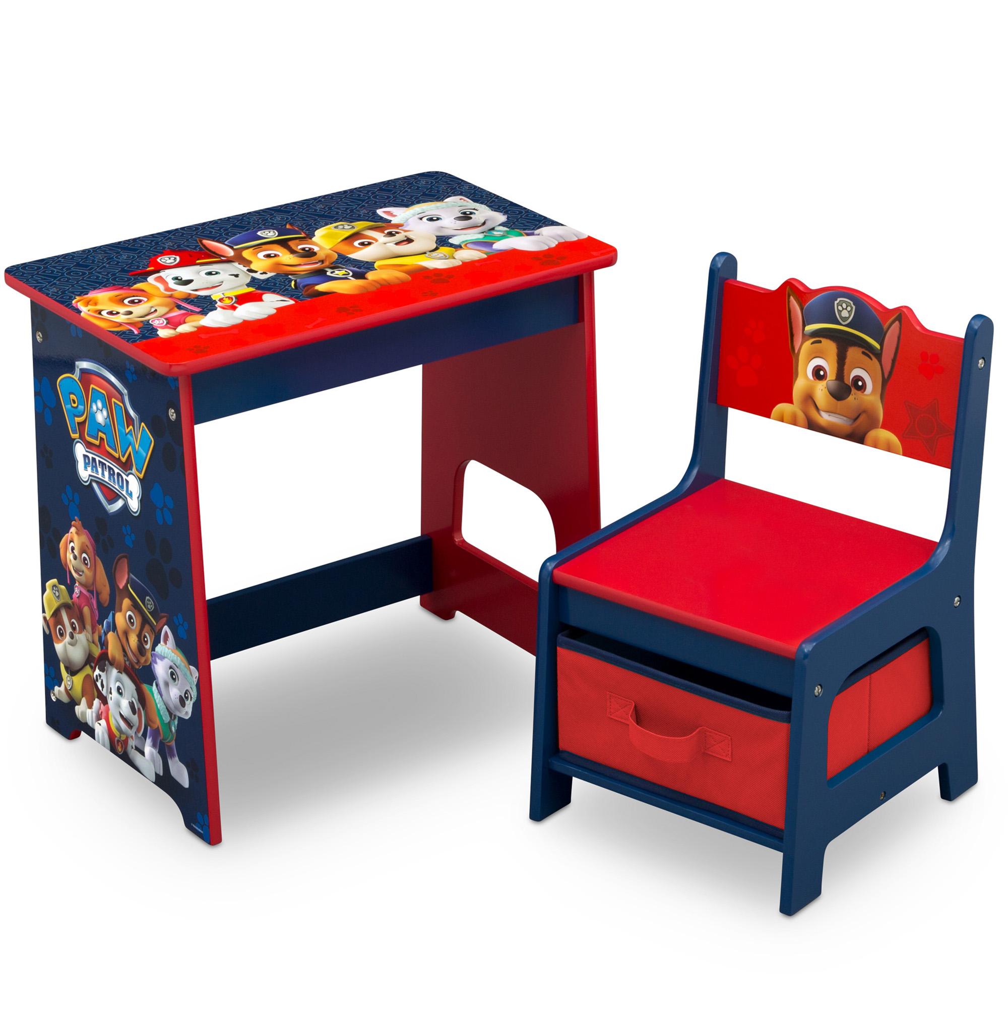Nick Jr. PAW Patrol Kids Wood Desk and Chair Set by Delta Children