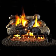 Peterson Real Fyre 24-inch Charred American Oak Log Set With Vented Propane G45 Burner - Manual Safety Pilot