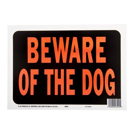 Hy Ko Plastic Beware Of The Dog Real Estate Sign  9  X 12