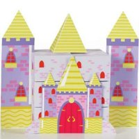 1PK Princess Castle Fun Favor Boxes Centerpiece,Party Supplies and Decorations