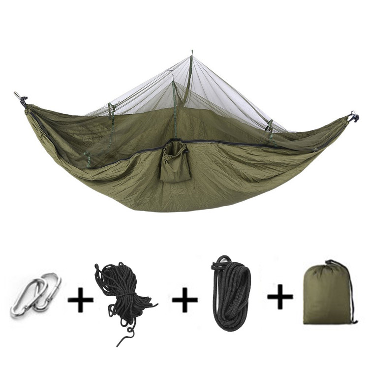 Outdoor Camping Jungle with Mosquito Net Garden Hanging Nylon Bed Hammock Swing Bug Net