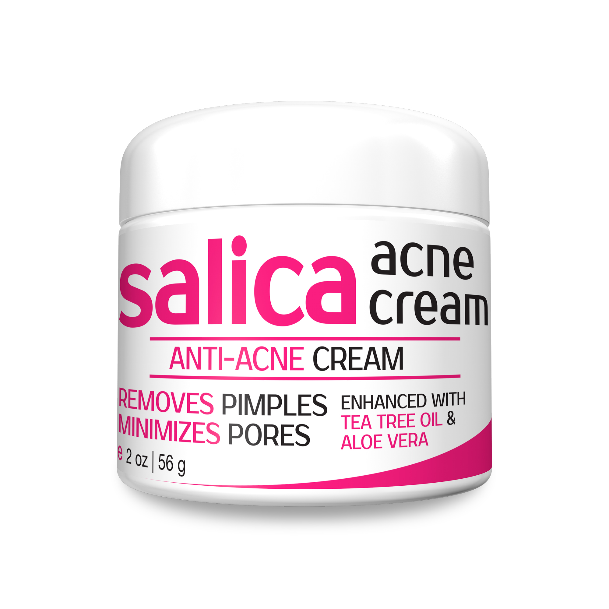 Salica Acne Treatment Cream - Topical Anti Acne Medication with Salicylic Acid and Tea Tree Oil - Get Rid of Acne Scars, Pimples, Cystic Acne and Blackheads - Same Formula NEW PACKAGING