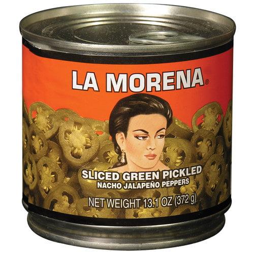 La Morena Sliced Green Jalapeno Peppers, 13.1 oz