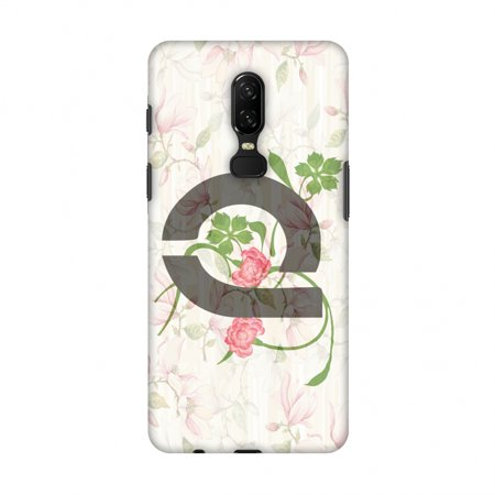 OnePlus 6 Case - Floral Vines- Q, Hard Plastic Back Cover, Slim Profile Cute Printed Designer Snap on Case with Screen Cleaning Kit - Halloween Vines Clean
